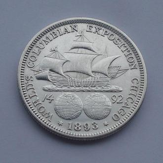1893 - 1/2 доллара США Колумб,серебро № 7