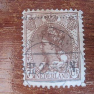 Нидерланды 1898 Вильгельмина  стандарты 7 1/2 центаГАШ