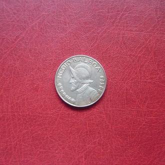 Панама 1/2 бальбоа 1947. Серебро. Редкая.