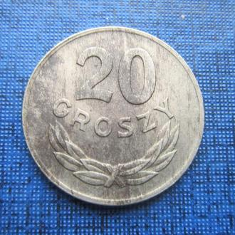 монета 20 грошей Польша 1949 никель