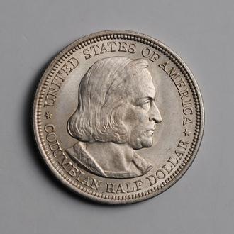 США 50 центов 1892 г., UNC, 'Колумбийская выставка'