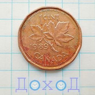 Монета Канада 1 цент 1989 немагнит