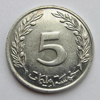 Тунис 5 миллим 1997 (KM#348)