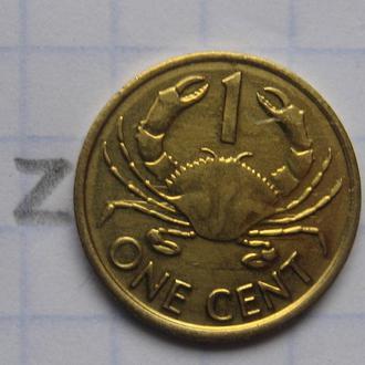 СЕЙШЕЛЬСКИЕ ОСТРОВА, 1 цент 2004 г. (КРАБ).