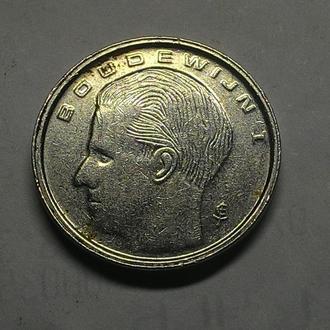 Бельгия 1 франк 1989 год