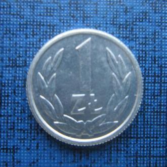 Монета 1 злотый Польша 1990 алюминий состояние