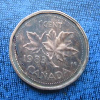 монета 1 цент Канада 1983