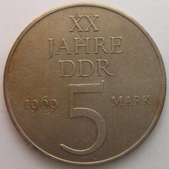 Германия (ГДР) 5 марок, 1969 год