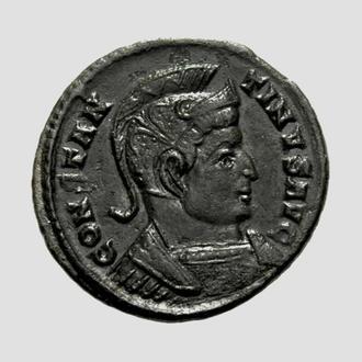 "(А)3301 - Константин I (307—337 г.) Фоллис ""Счастливое Спокойствие"""
