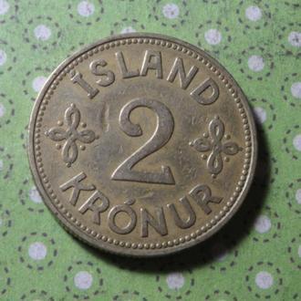 Исландия 1940 год монета 2 кроны