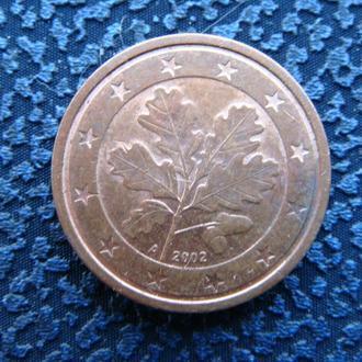 Германия 1 цент 2016 D