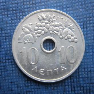Монета 10 лепта Греция 1969 виноград