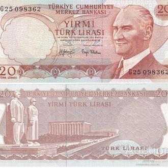 Турция 20 лир 1970 UNC