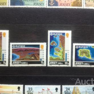 Джерсей 1982 ЕВРОПА-СЕПТ карты экология**