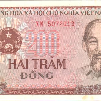 Вьетнам 200 донг 1987г.  в UNC из пачки