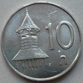 Словакия 10 геллеров 2002 состояние