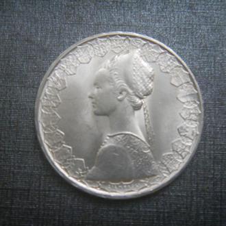 Италия 500 лир 1966 серебро парусник