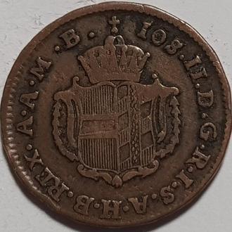 Австро Венгрия  1/2 крейцера 1789 год СОХРАН!!!!!! НЕ ЧАСТАЯ!!!!!!!