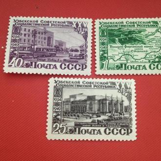 1950, 25 лет Узбекской ССР, MNH