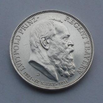 1911 г - 3 марки Германия,Бавария,серебро № 3