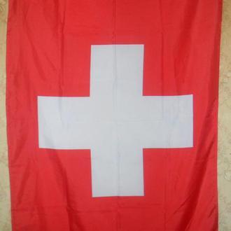 Флаг Швейцарии. (150 х 93 см.) 100% полиэстер.