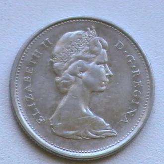 25 Центів 1968 р Канада Срібло 25 Центов 1968 г Канада Серебро