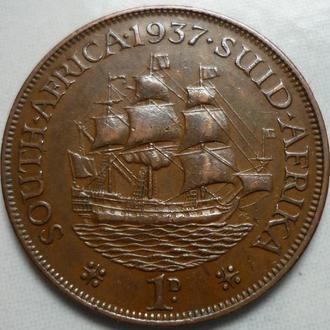 Южная Африка 1 пенни 1937 парусник