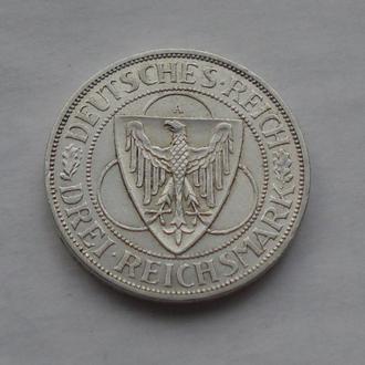 1930 г - 3 марки Германии,Орел,серебро