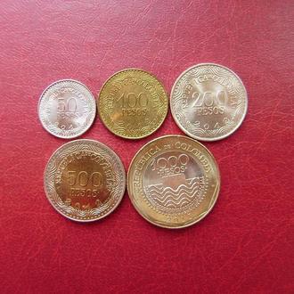 Колумбия набор 2012 - 2013 5 монет