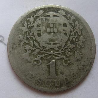 ПОРТУГАЛИЯ 1 эскудо 1928 года.