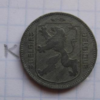 БЕЛЬГИЯ 1 франк 1943 г. (состояние).