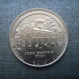 США 25 центов Харперс Ферри D 2016 (RL206)