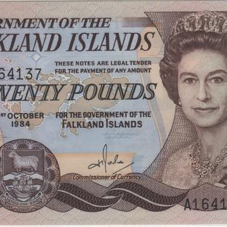 Фолклендские Острова 20 pounds 1984 Pick 15 UNC