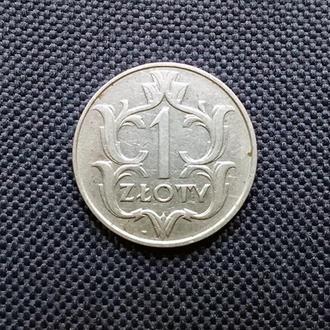 1 злотый, Польша, 1929 г.