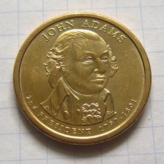 США_ 1 доллар 2007 года P  2-й президент Адамс