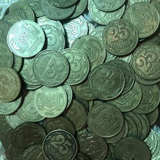 Монеты 25 копеек 1992 г