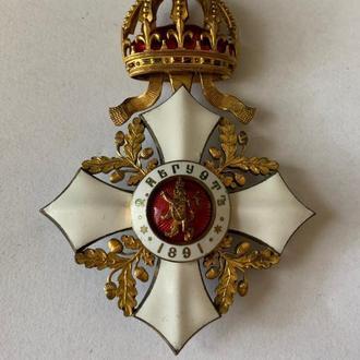 Болгария.Орден гражданских заслуг 4 степени. Фердинанд I . Очень редкий.Супер состояние.