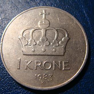 Норвегия 1 крона 1983 год
