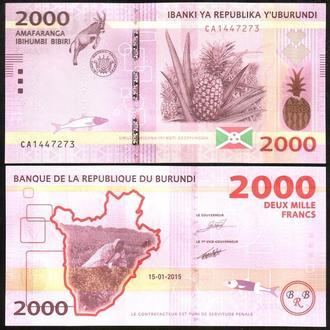 Burundi / Бурунди - 2000 Francs 2015 - UNC Миралот