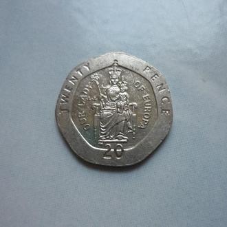 Гибралтар 20 пенсов 1998