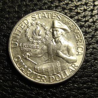 25 центів 1976 D США  200 років незалежності