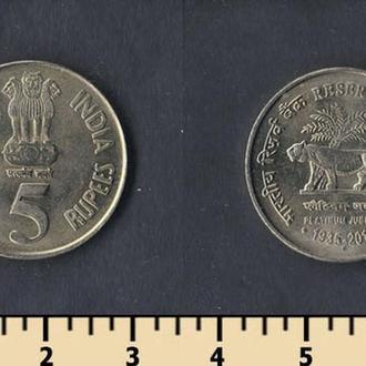 Индия 5 рупий 2010