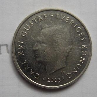 ШВЕЦИЯ, 1 крона 2003 года.