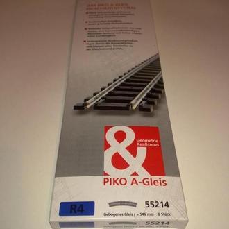 Рельс радиусный R4 PIKO 55214-6штук