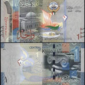 КУВЕЙТ 1 динар 2014г. UNC