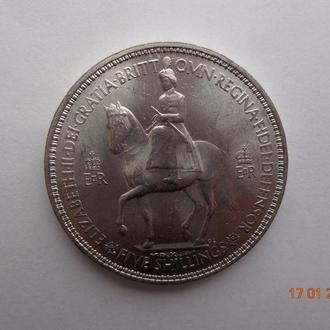 "Великобритания 1 крона 1953 Elizabeth II ""Coronation of Queen Elizabeth II"" СУПЕР состояние редкая"