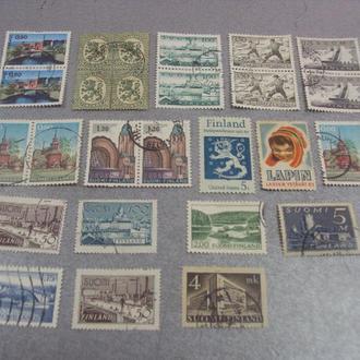 марки Финляндия герб архитектура мост сплав дамба 1970 ландшафт 1968 лапландия шапки лот 26 шт №156