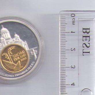 ВАЛЮТА ЕВРОПЫ 1998 ФИНЛЯНДИЯ (Настольная медаль)