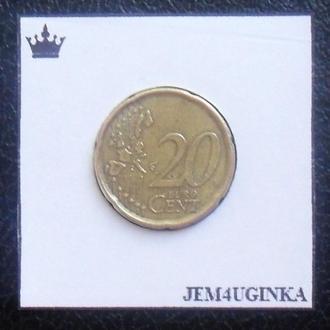 Испания. 20 евроцентов 1999 г.  Состояние!