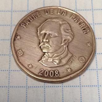 ДОМИНИКАНСКАЯ РЕСПУБЛИКА, 1 песо 2008